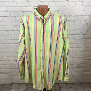 Ralph Lauren Button Down XL Bold Colors